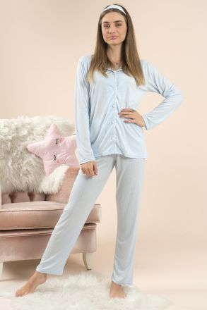 Women's 3-Piece Short Sleeves Pajamas -