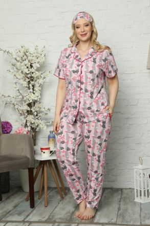 Women's Plus Size 3-Piece Pajamas Set -