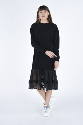 Bottom Chiffon Women's Dress