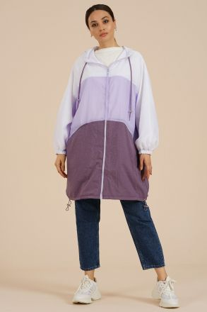 Women's Oversize Raincoat - 8910 Lilac