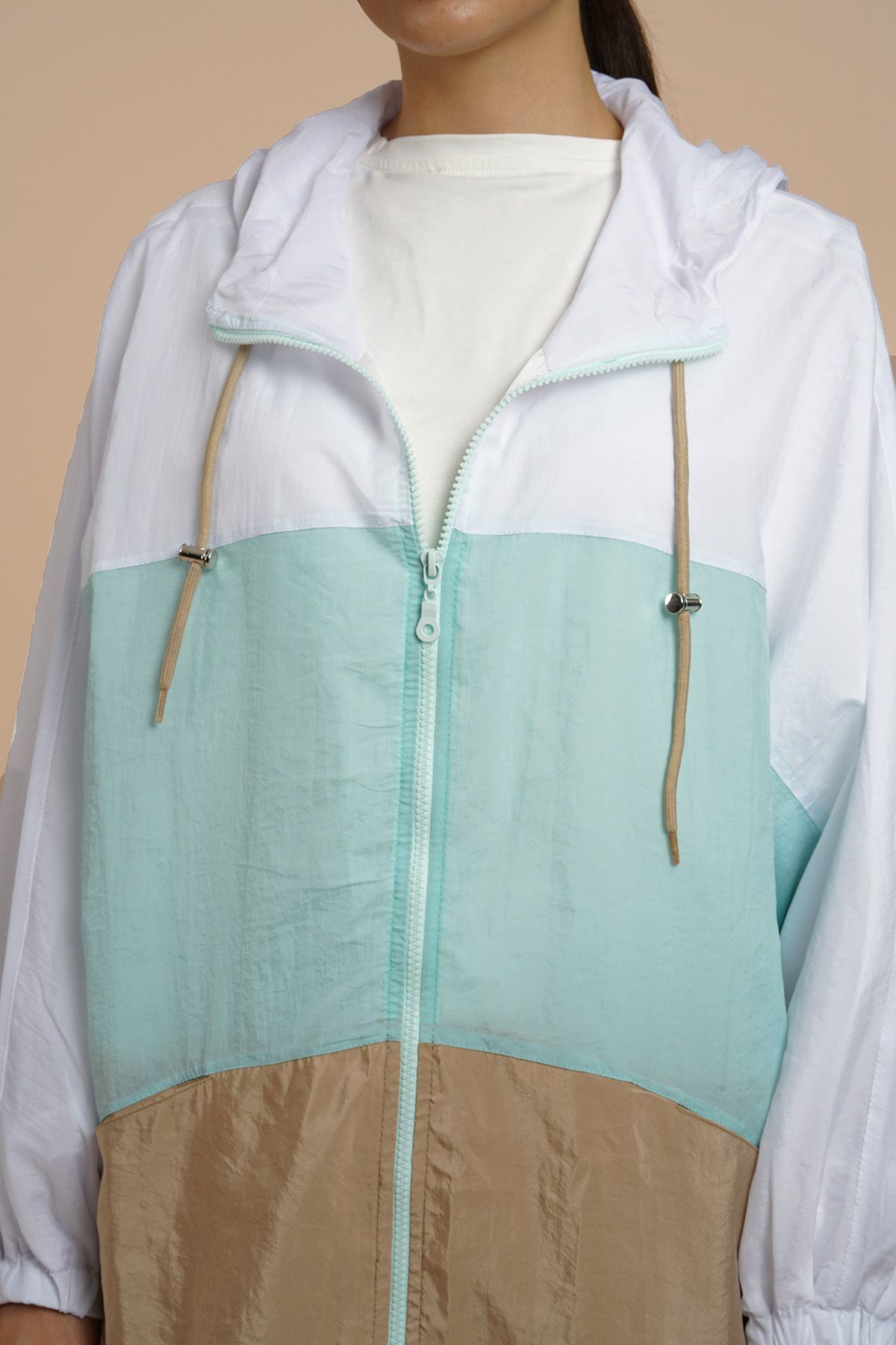 Women's Oversize Raincoat - 8910 Mint