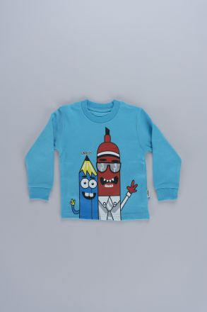Interactive Pencil Graphic Unisex Kids Sweatshirt