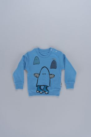 Interactive Penguin Graphic Unisex Kids Sweatshirt