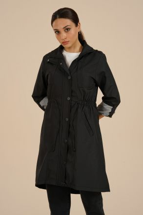 Women's Rope Detailed Trench Coat -