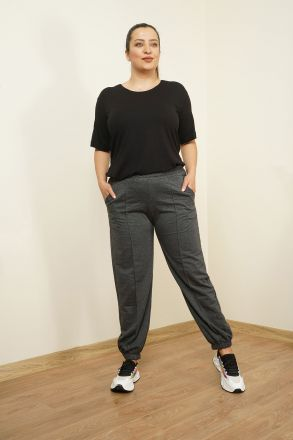 Women's Plus Size Jogger Bottom Tracksuit 2280 Anthracite