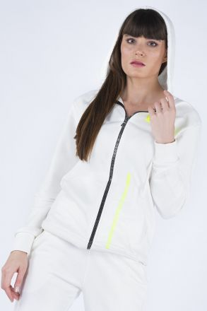 Women's Hooded Transparent Kangaroo Pocket 2-Piece Set