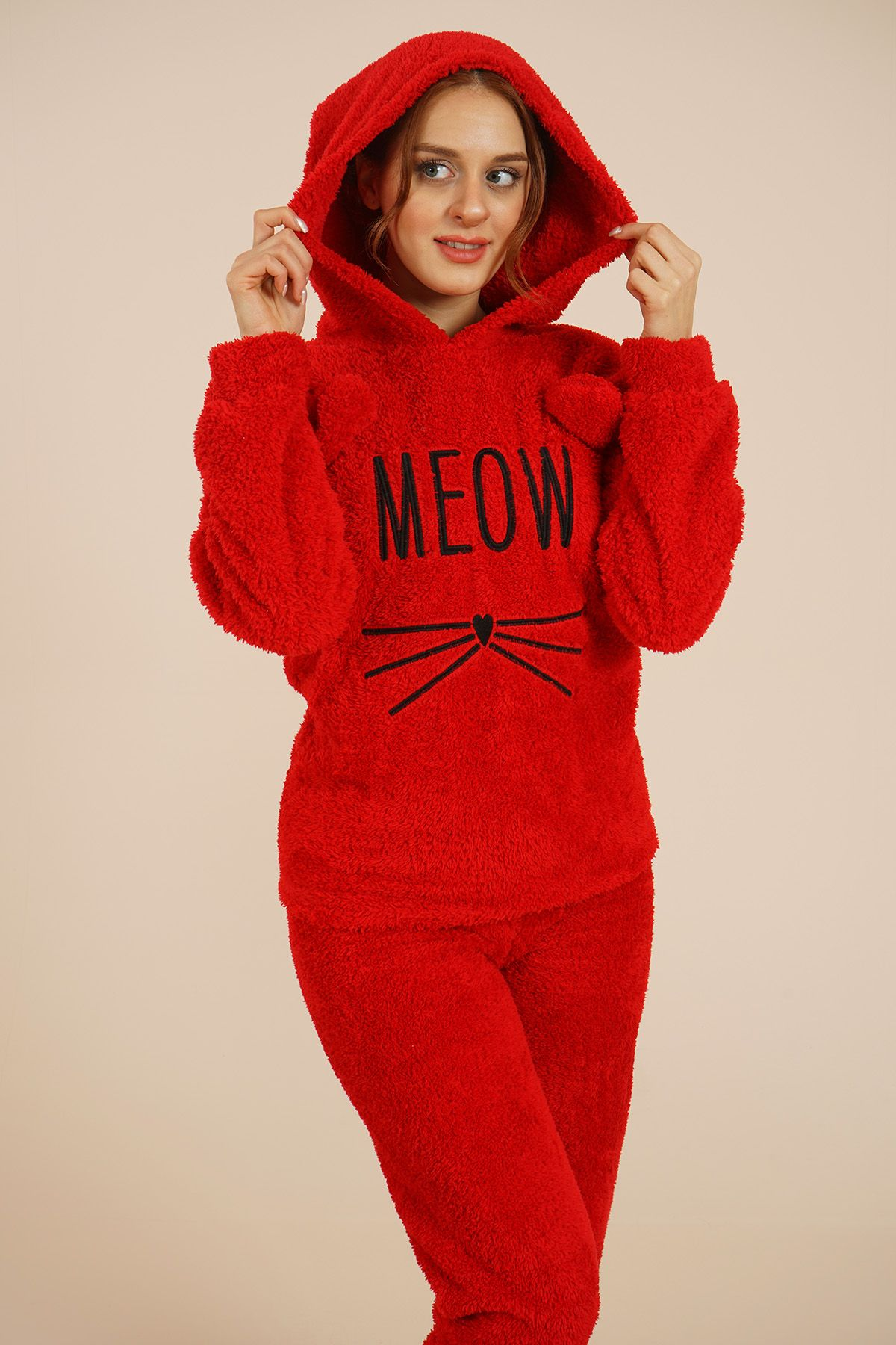 Women's Hooded Jumpsuit 4130 Red