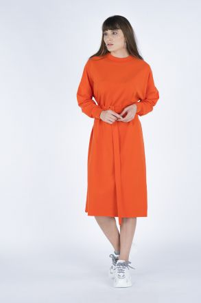 Belt Combed Cotton Dress
