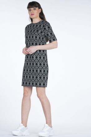 Short Sleeve Patterned Women's Dress