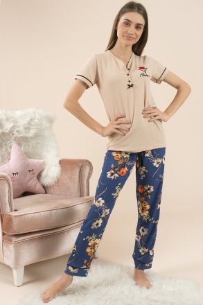 Women's Short Sleeves Pajamas - 55205 Blue