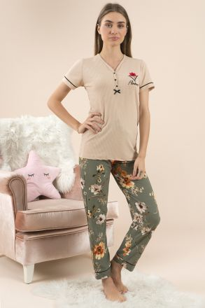 Women's Short Sleeves Pajamas -