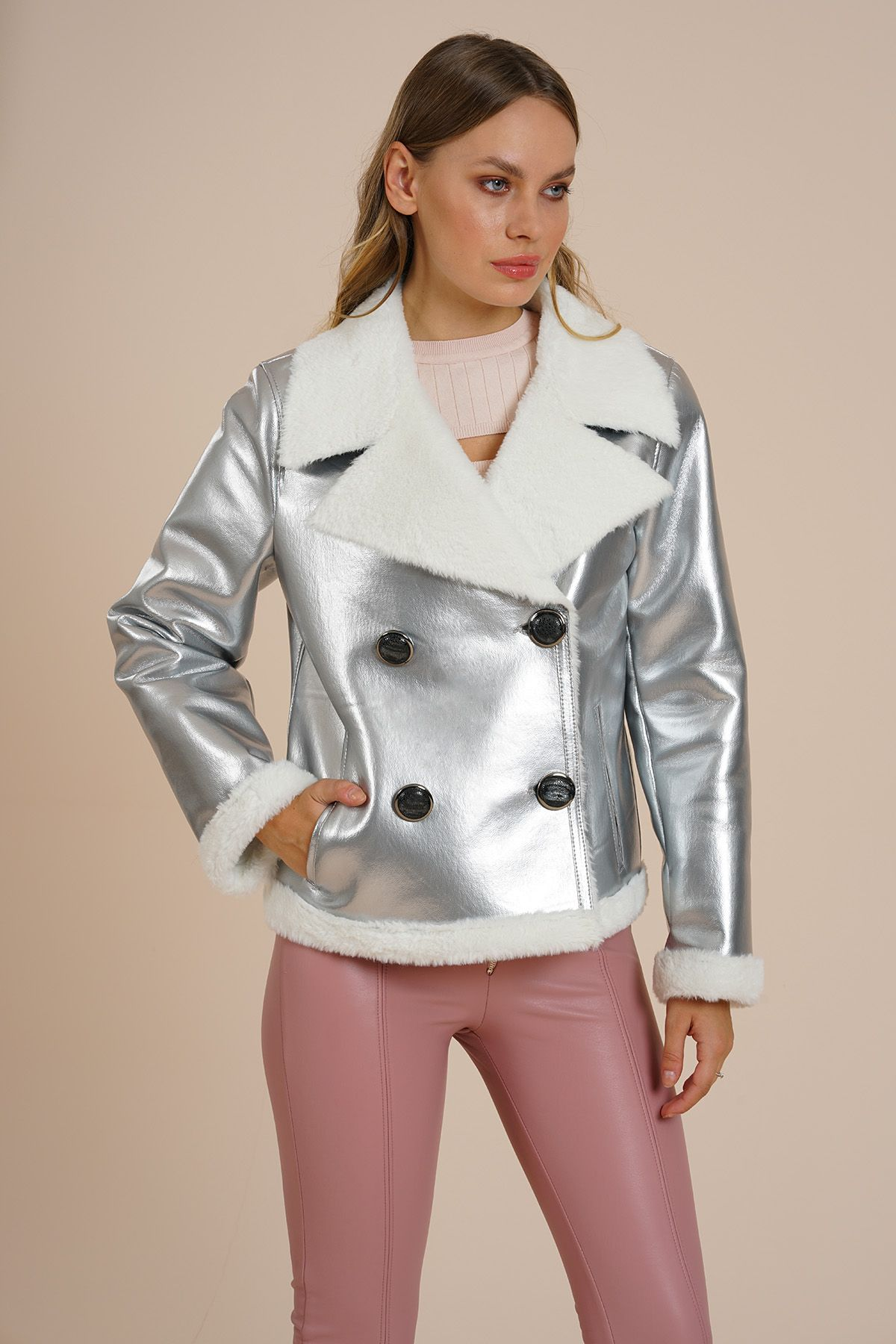 Mirror - Women's Special Edition Faux Fur Jacket -  LMTD14 Grey