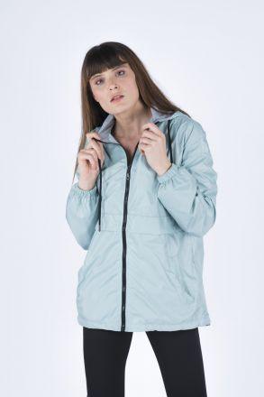 Fully Zippered Women's Raincoat