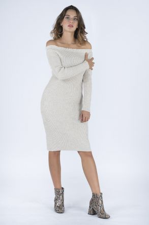 Collar Detailed Women's Knitwear Dress